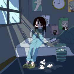Beatani's drawing of listless Listener-chan hugging a pillow.jpg