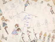 Fujisaki YUA Early Sketches