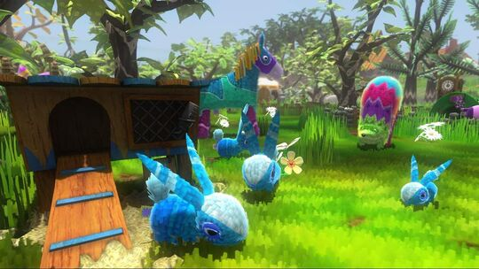 Bunnycombs and other piñata in Viva Piñata