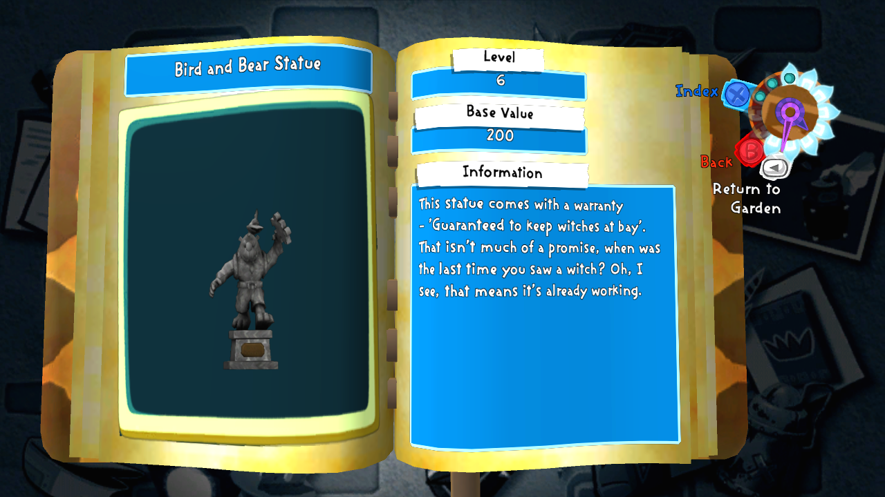 Bear and Bird Statue