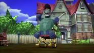 Hoofy Horstachio on Chair