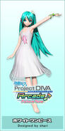 Hatsune Miku White One Piece PDArcadeFT Module