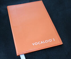 VOCALOID3 Leather Book Cover Orange.jpg