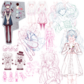 Karakuri Pierrot sketches.png