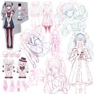Karakuri Pierrot sketches