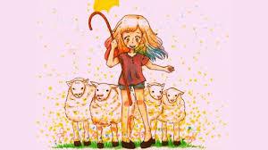 Dreamy Sheep Herder