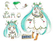 Snow Miku 2015 Concept Art