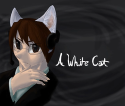 """Image of """"A White Cat"""""""