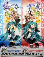 VOCALOID BEST from ニコニコ動画 (あか)・(あお) Promotional poster