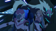 S7E02.148. Space wolf drops Romelle off with Allura and Blue