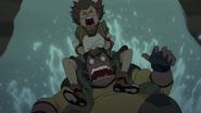60. Pidge clings to Hunk down slide