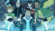 Team Voltron in Blue Lion
