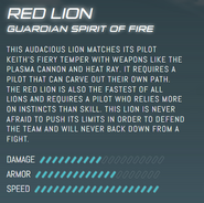 Official Stats - Red Lion