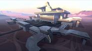 29. Galaxy Garrison training base by sunrise
