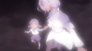 Toddler Honerva and her mother