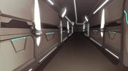 S3E06.37. Castle hallway in living quarters area