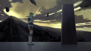 S4E02.221. Pidge standing in front of monument inscription
