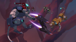 S3E03.219. Lotor's fighter in the middle of the lions