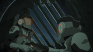 S7E09.339. Griffin flinches at the sound of approaching robots