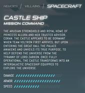 Official stats - Castle Ship