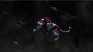 S7E02.156. Red Lion dodging fighter fire