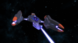 S3E03.53a. Lotor's fighter comes in for the attack 2