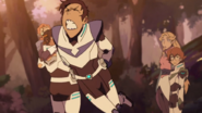 S7E01.106. Lance hopping about in pain