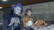 Acxa is sad and James's got his head on the plate