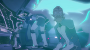 S7E02.145. Space wolf starting to teleport and fur lights up