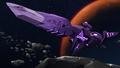 S4E05.16. Zaiforge cannon in high orbit above planet Teq