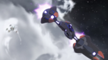 S3E03.138. Lotor's ship ducking into atmosphere