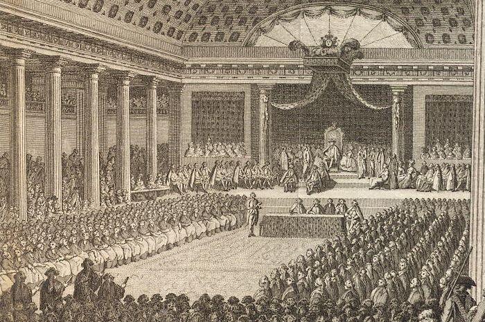 Opening van de Algemeene Vergadering te Versailles, op den 5den van Bloeimaand 1789.