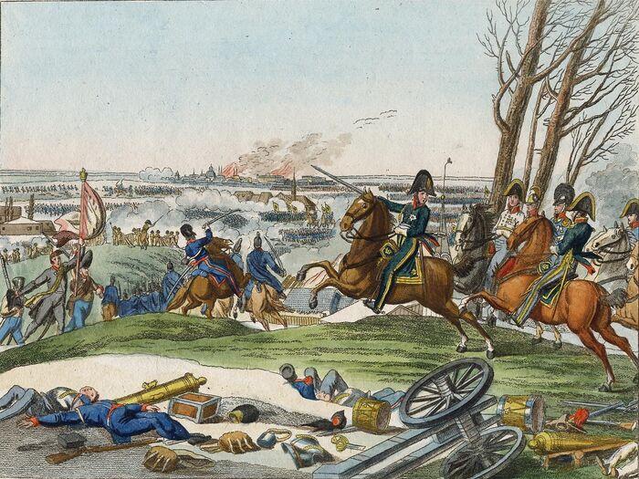 Die glorreiche Schlacht bei Brienne, den 1. Februar 1814.