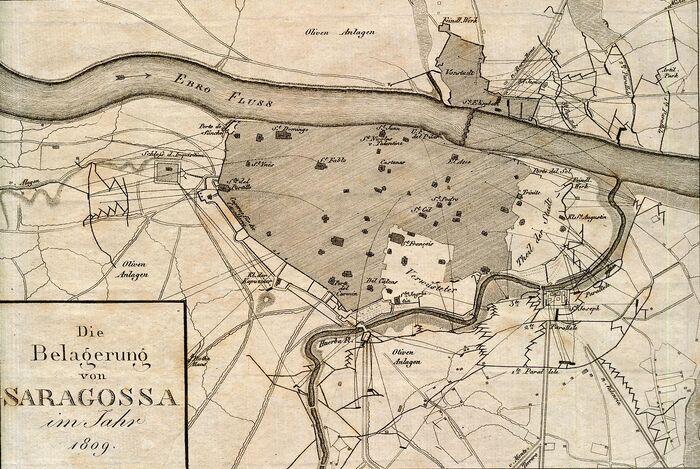 Die Belagerung von Saragossa im Jahr 1809.