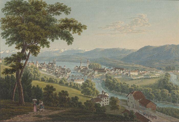 Die Stadt Zürich von der Nordseite.