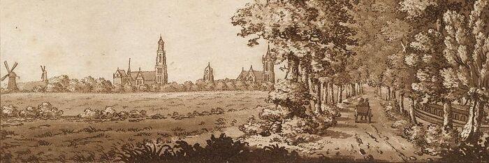 Delft towards the Hague.