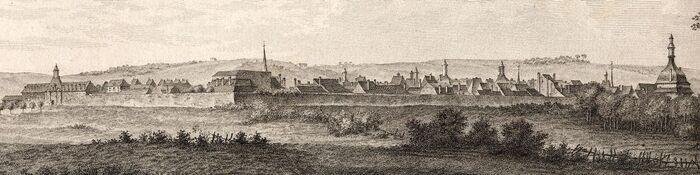Vue de Charleville en Chamapagne.