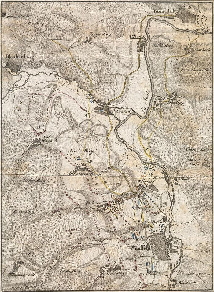 Darstellung des Gefechts bei Saalfeld am 14ten October 1806.