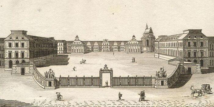Vue du Chateau de Versailles (Côté de Paris.)