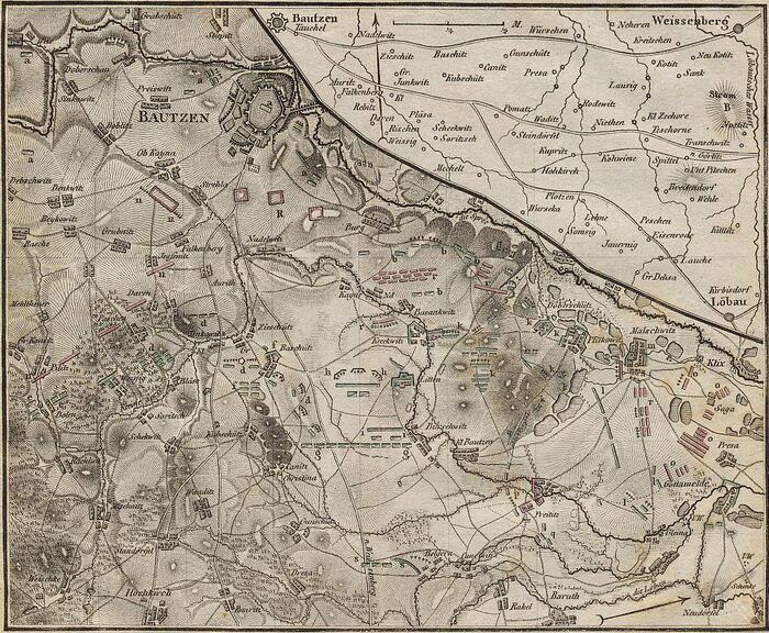 Plan von der Schlacht von Bautzen.