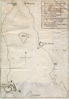 Karte von dem Sunde.