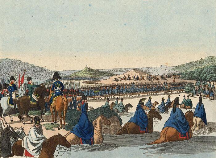 Eröffnung des Französisch-Russischen Kriegs.