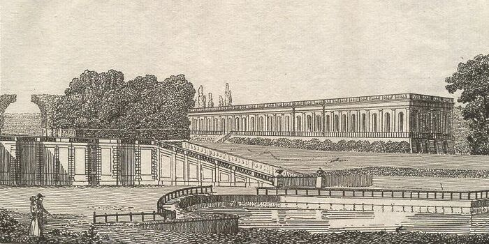 Vue du Chateau de Trianon.