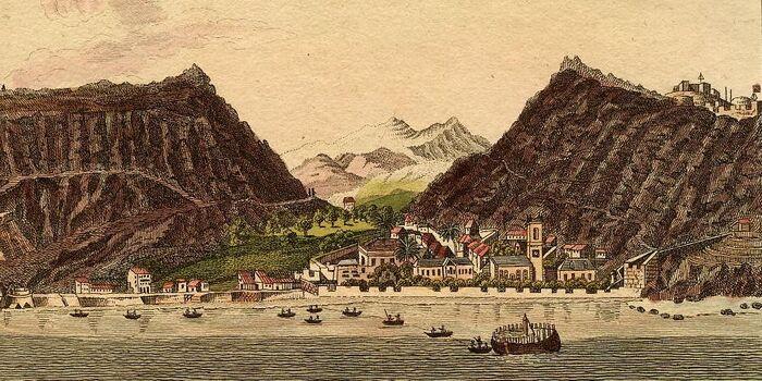 Ansicht von Jamestown auf der Insel S.Helena.