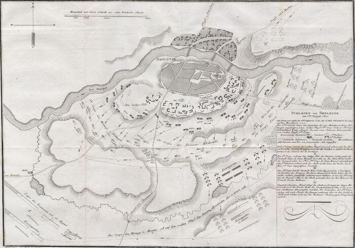 Schlacht von Smolensk am 17ten August 1812.