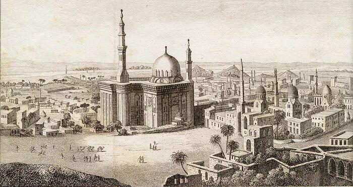 Hauptansicht von Cairo aufgenommen vom Thore der Citadelle.