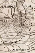 Plan von der Schlacht von Jemappes