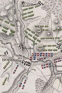 Plan von der Schlacht von Mosaisk