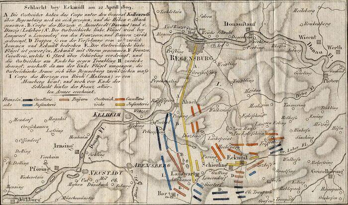 Plan von der Schlacht bey Eckmüll.