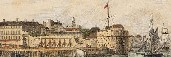 Vue de l'entrée du Port du Havre.